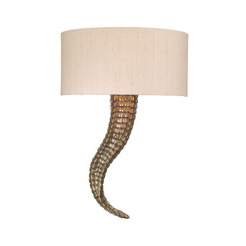 Brutus  Wall Light Right Bronze + Silk Shade S1399 (Spec Col ) BRU0700R (7-10 day Del) (Class 2)